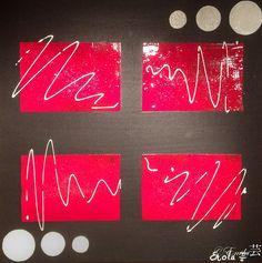 """""""L'Esprit Zen"""" Tableau réalisé à la peinture acrylique, Modeling gel avec un effet pailleté argenté  A retrouver et disponible à la vente sur mon site internet : celine-farnier.wix.com/enola69"""