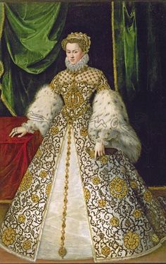 ELISABETH OF AUSTRIA queen of France  PROVENANCE Georde van Straeten - Jorge de la Rua, ca 1573, Descalzas monastery, photo Oronoz