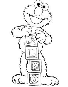 Elmo Is Showing Off His Name Coloring Page - Elmo Coloring Pages : KidsDrawing – Free Coloring Pages Online