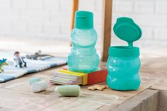 Snack time! The tiniest tummies will love our Animal Water Bottle and Snack Cup! #Tupperware