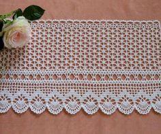 How to Crochet Wave Fan Edging Border Stitch Crochet Mandala Pattern, Lace Knitting Patterns, Crochet Lace Edging, Crochet Borders, Filet Crochet, Diy Crafts Knitting, Diy Crafts Crochet, Knitting Blogs, Easy Crochet