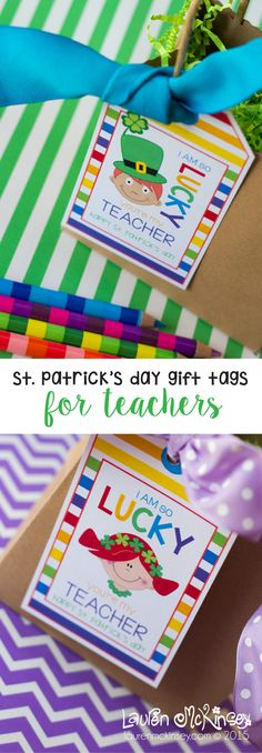 Are you LUCKY and have an amazing teacher for your little scholar? Don't forget to remind them just how LUCKY you are this St. Patrick's Day with these adorable gift tags for teachers from Lauren McKinsey!