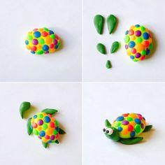 Животные из пластилина - черепаха, фото 2