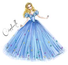 Illustration for Cinderella doll by Mattel