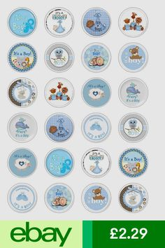 Decorations & Cake Toppers Home, Furniture & DIY Edible Cake Decorations, Paper Decorations, Cupcakes For Boys, Paper Cupcake, Rice Paper, Baby Cards, Baby Boy Shower, Cake Toppers, New Baby Products