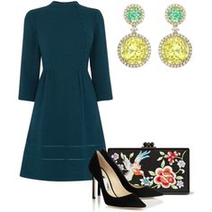 Без названия #1969 by claire-hamilton-bristol on Polyvore featuring moda, Oasis and Edie Parker