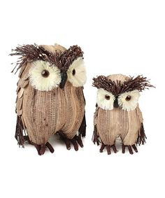 This Beige Owl Figurine Set are a great addition to any home. Let these lovely owls watch over you for for good luck! One is 7.5 inches and the other is 10 inches tall.