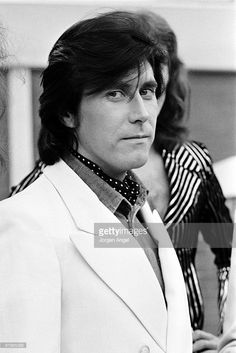 Bryan Ferry of Roxy Music poses for a portrait at the Holiday Inn on October 28th 1973 in Manchester, United Kingdom.