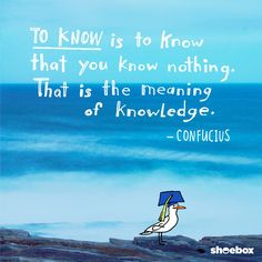 To know is to know that you know nothing. That is the meaning of knowledge. Confucius Congrats Class of Wise Up, Uplifting Words, You Are Invited, Words Of Encouragement, Shoe Box, Life Goals, Aesthetic Wallpapers, The Funny, Knowing You