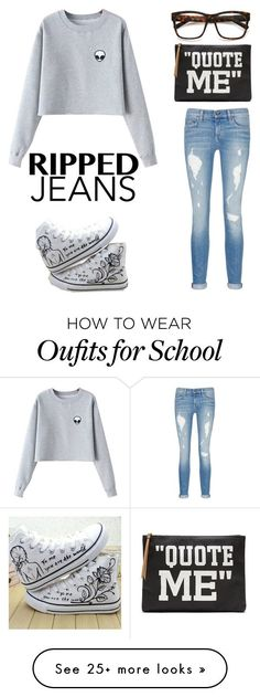 """""""Comfy Hipster for School"""" by swimsinger on Polyvore featuring Chicnova Fashion, HVBAO, rag & bone/JEAN and Banana Republic"""