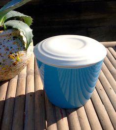 FREE SHIPPING..Vintage Retro Turquoise Ceramic by ellansrelics02