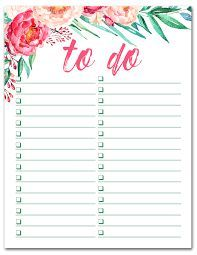 Image result for printable to do list