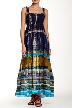Smocked Contrast Dress