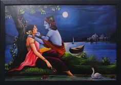 दिल ये कहता है कानों में तेरे थोड़ा करीब आ के बाँहों में तेरे धीरे से मैं एक बात कहूँ  क्या ? आय लव यू आय लव यू Radha Krishna Songs, Lord Krishna Images, Radha Krishna Pictures, Radha Krishna Love, Krishna Photos, Radhe Krishna, Hanuman, Vishnu Mantra, Religious Paintings
