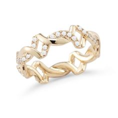 CARLY BETH: Yellow Gold Twisted Ring