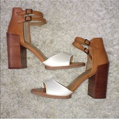 Dolce Vita Marryn Sandals NWOT Dolce Vita Marryn Heel sandals. These have never been worn out of the house so there are no signs of wear. Adjustable double ankle straps. Great shoes for spring and summer! Dolce Vita Shoes Heels