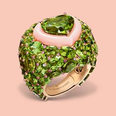 For a more passionate declaration of love, de GRISOGONO's voluptuous Melody of Colours ring is a surefire Cupid's arrow to your heart.  With heart-shaped gemstones in bold, daring colour combinations set on top of one another like kissing stones, Melody of Colours is de GRISOGONO's very own interpretation of desire.  #deGRISGOGONO #MelodyofColours