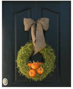 love the simplicity...but would it look too Christmas-y on my red door?  Fall Wreath