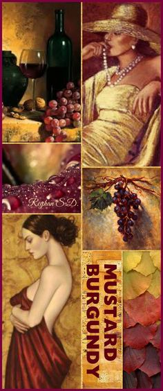'' Mustard & Burgundy '' by Reyhan S.D.