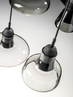 Brokis lights - Smoke Grey Shadows are hanging lights. The designer Lucie Koldova and Dan Yeffet.