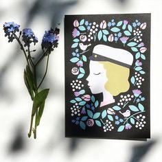 #ylioppilaskortti #madeinfinland #recycledpaper #illustration #card #greetingcard #graduation Jam On, Cards Diy, Illustration, Graduation, Greeting Cards, Frame, Instagram Posts, How To Make, Decor