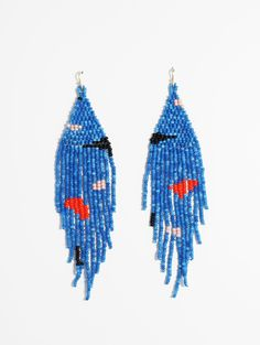 Miro is one of my favorite artists of all time. Tribal Earrings, Seed Bead Earrings, Fringe Earrings, Beaded Earrings, Earrings Handmade, Seed Beads, Handmade Jewelry, Boho Jewelry, Beaded Jewelry