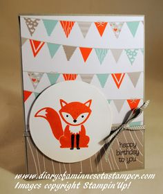 Diary of a Minnesota Stamper: Foxy Friends Card using the A Little Foxy Suite by Stampin'Up!