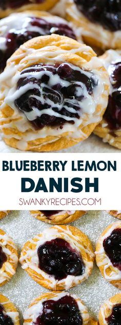 Easy Blueberry Lemon Cream Cheese Danish for a quick breakfast pastry. This cream cheese danish starts with store-bought crescent roll dough. Filled with lemon cream cheese and blueberry pie filling. Breakfast Cheese Danish, Breakfast Pastries, Breakfast Recipes, Blueberry Danish, Blueberry Breakfast, Roll Dough Recipe, Crescent Roll Dough, Cream Cheese Danish Recipe Crescent Rolls, Lemon Cheese
