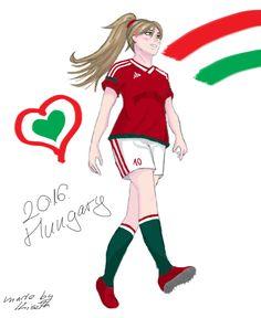 Hetalia, football player Hungary, European Championship, Magyarország EB verzió :)
