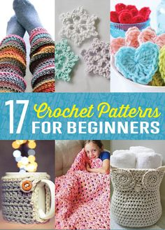 Amazing Crochet PatternsEvery pro has to start somewhere. These easy crochet patterns for beginners will get you working your needles to beautiful designs in no time. Full Post: 17 Amazing Crochet Pat
