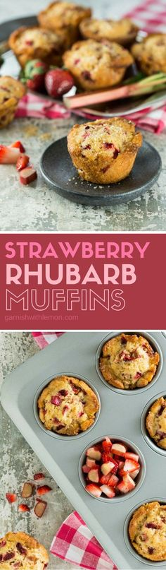Hosting brunch? These one-bowl Strawberry Rhubarb Muffins are the perfect blend of sweet and tart.