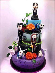 Tim Burton Wedding Cake . . . YES I WOULD!!!!!!!