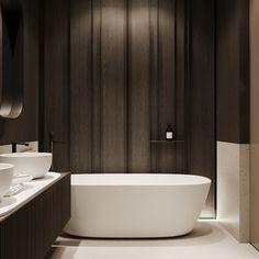 Bathroom Bathroom Bath, Washroom, Restroom Design, Interior Decorating, Interior Design, Wall Treatments, Apartment Interior, Minimalist Design, Living Room Designs