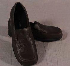 Baretraps Dream Navy Multi Womens Leather Moccasin Shoe