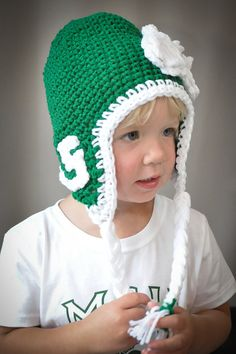 Michigan State University hat for child or adult. SO CUTE! :)