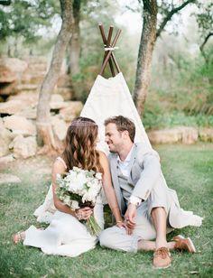 Boda a la vista » Teepees, una tendencia de boda muy bohemia