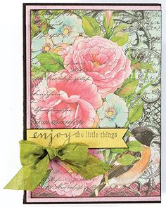Mystic Garden Stamp Set by Hot Off The Press Inc (4101188) - I like this card too, & it's from the same set of stamps!