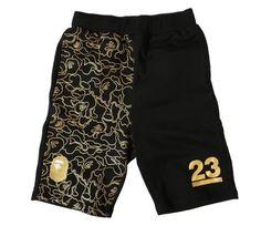 BAPE 23rd Anniversary Golden Camo Shorts