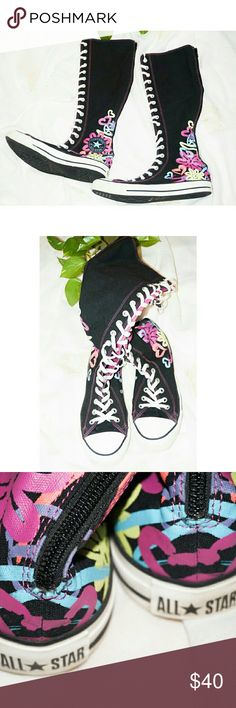 Converse Sneaker Boots Clean shoes. Sz 10. Lace-up with zip closure at the back. Same day shipping. 20% bundle discount for 3 items. Reasonable offers accepted. Converse Shoes Sneakers