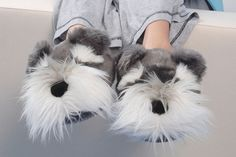 Schnauzer Slippers I want these
