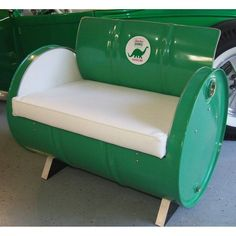 Drum Works Furniture Sinclair Gasoline Bench - 1018