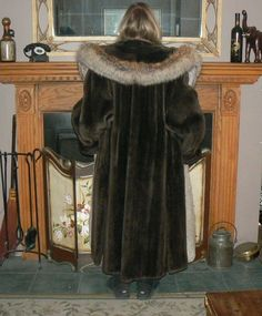 Gorgeous Brand New Sheared Beaver and Fox Fur Full Length Coat | eBay