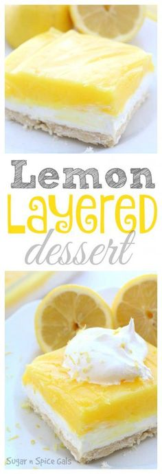 Bring a little spring into your life by making this yummy Layered Lemon Dessert. It's rich and creamy and absolutely delicious!