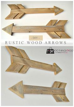 How to build rustic wood arrows from scrap wood. Easy DIY!