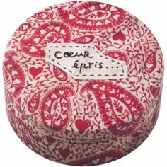 """Express your romantic nature with one of Mako Yoshikawa's embroidered designs; """"coeur epris"""" is French for totally smitten.  #Beauty  #Vegan  #natural  #STEAMCREAM  #Moisturiser"""