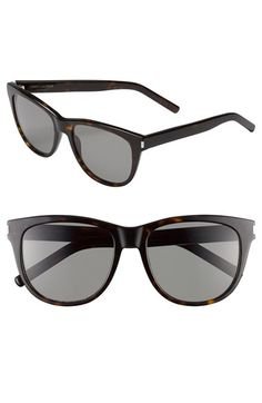 358367835c Saint Laurent 55mm Retro Sunglasses available at  Nordstrom Sports Glasses