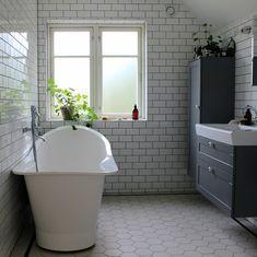 Our bathroom - before & after Bathroom Before After, Cast Iron Bathtub, Small Bathroom Renovations, Clawfoot Bathtub, Corner Bathtub, Home Decor Inspiration, Bradford, House Styles, Blog