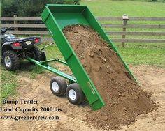 Atv Dump Trailer, Atv Utility Trailer, Atv Trailers, Trailer Tires, Trailer Plans, Trailer Build, Quad Trailer, New Holland, Compact Tractor Attachments