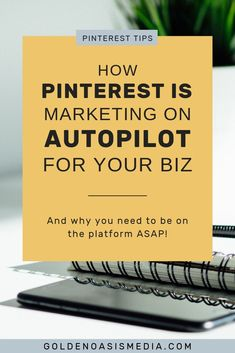 How Pinterest Marketing is Marketing Your Business on Autopilot | Pinterest Marketing Tips & Online Business Tips - Is your small business or online business using Pinterest marketing for business growth? Click through to learn how Pinterest can grow your business & learn how to use Pinterest marketing for business. Golden Oasis Media #pinterestmarketing #onlinebusiness #pinteresttips #pinterestforbusiness #marketingtips #socialmediatips #socialmediamarketing #smallbusiness #marketing Business Entrepreneur, Business Tips, Online Business, Creative Business, Tips Online, Thing 1, Pinterest For Business, Marketing Strategies, Media Marketing