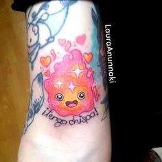 Tattoo by Laura Anunnaki Cartoon Tattoos, Anime Tattoos, Body Art Tattoos, Tattoo Drawings, Small Tattoos, Kawaii Tattoos, Tattoo Art, Hayao Miyazaki, Studio Ghibli